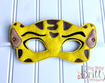Cheetah inspired mask