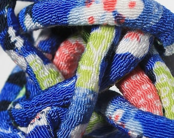Japanese Chirimen kimono fabric cords  c63