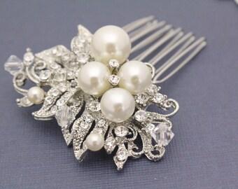 Wedding hair comb bridal hair accessory wedding headpiece bridal hair comb wedding hair jewelry bridal hair jewelry wedding comb pearl