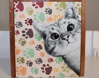 Cute Kitty Cat Keepsake Box