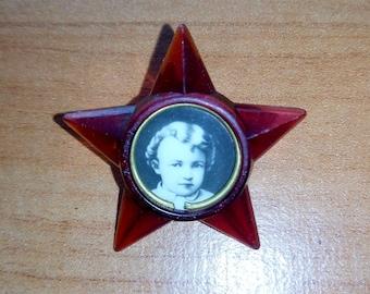 """Soviet children's badge starlet """"Young october"""" USSR VINTAGE"""