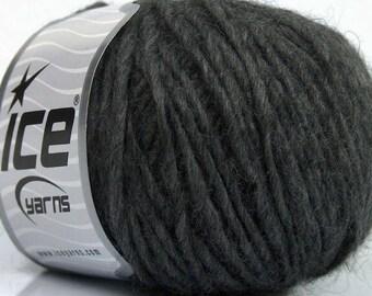 Peru Alpaca Worsted Yarn Dark Grey #48975 Ice Merino Wool Alpaca Acrylic 50g 98y