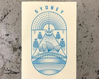 Sydney risograph print