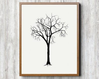 Winter Tree Printable 8 x 10