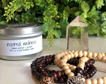 Natural Wood Meditation Mala/Meditation Necklace/Meditation Beads