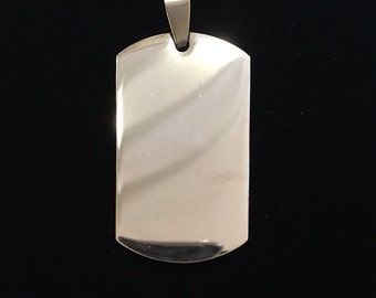 Military tag charm with possibility of custom engraving