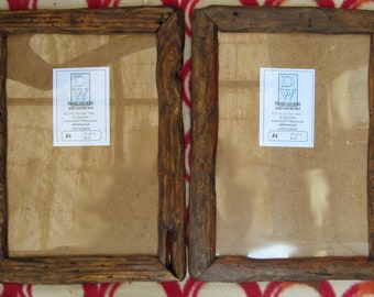 Rustic/driftwood style frames in locally sourced,recycled old wood.Medium dark beeswax finish.To fit A4. FREE postage in U.K.