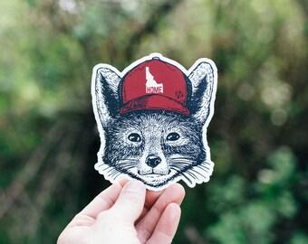 Idaho Home Fox Sticker
