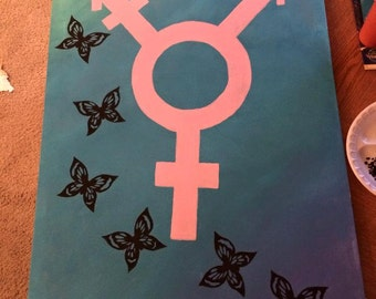 Trans* Butterfly painting