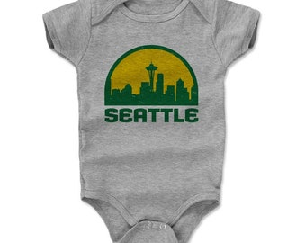 Seattle Supersonics Baby Clothes | Seattle Kids Romper | Seattle Skyline