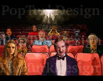 Wes Anderson Cinema - Digital Painting