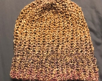 Soft Slouchy Hat -Brown, Pink, Purple
