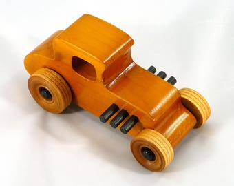 Wooden Toy Race Car, Hot Rod, 27 T Coupe, 1927 Ford, Street Rod, Dragster, Speedster, Rat Rod, Toys For Boys, Toys For Girls, Wood Toy