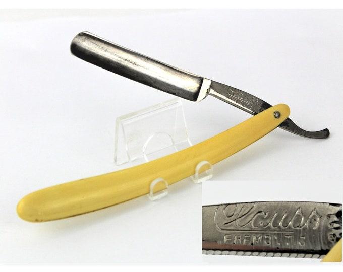 Antique Clauss Cutlery Company Straight Razor #201 Fremont, Ohio