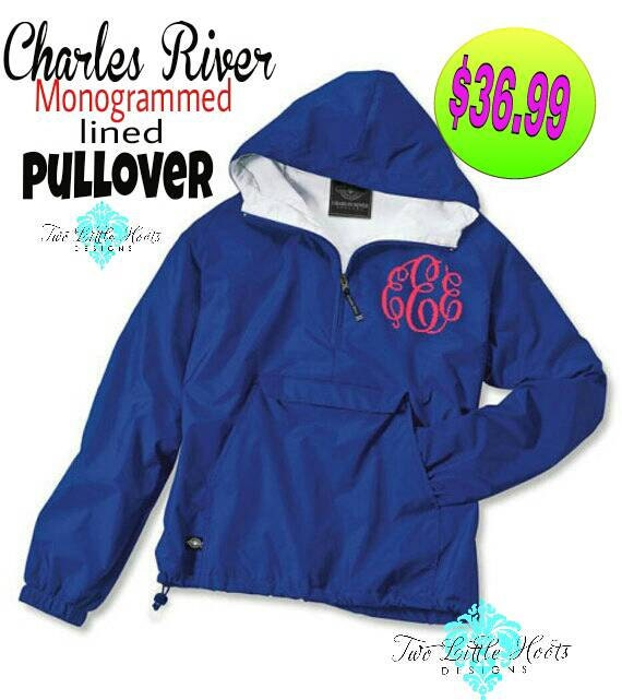 Monogram Pullover Jacket. Monogrammed Jacket. Monogram Pull Over. Classic Solid Pullover. Charles River Pullover. Personalized. CR: 9905 ldo1eNZ