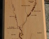 BROWN CREEK River Map Wal...