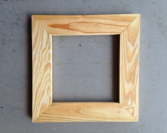 8x8 Pine Wood Picture Frame
