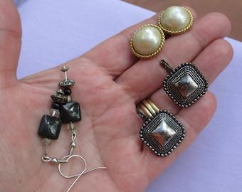 Lot Of Retro Assorted Pierced & Clip On Earrings TLC