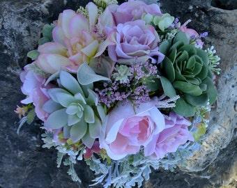 Vintage  Succulent Bouquet