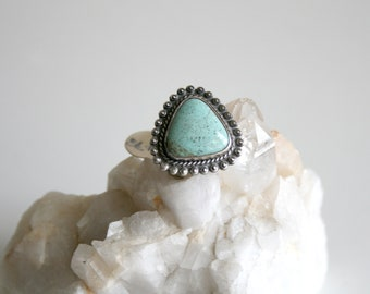 Turquoise Triangle Navajo Ring 6