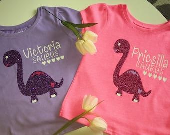 Personalized Dinosaur Shirts / Your Name Saurus