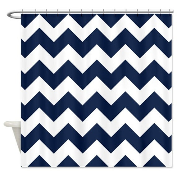 multi color chevron shower curtain. Like this item  Chevron Shower Curtain Navy Blue White Zig Zag Stripes OR