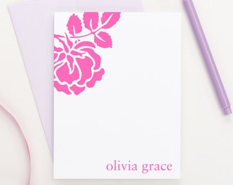 Personalized stationery // Rose stationery // Personalized Thank you cards // Personalized stationary for kids /// Personalized Gift, KS005