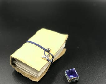 Handmade Leather Kestrel Mini watercolor journal sketchbook