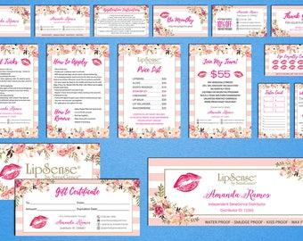 LipSense Marketing Kit, LipSense Marketing Bundle, SeneGence Business Card, LipSense Business Card, Pink Lip Package, LS01