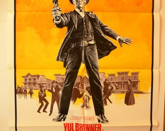 "Invitation to a Gunfight  Movie Poster   ""Invitation to a Gunfight""  - Original 1964 Movie Poster One-Sheet - Yul Brynner"