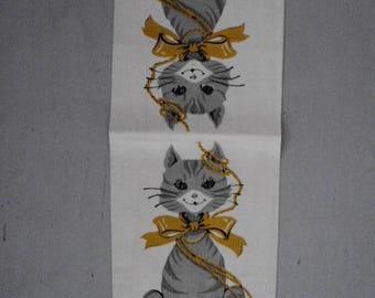 MWT Vtg. Kitty Tea Towel Parisian Prints FREE SHIPPING