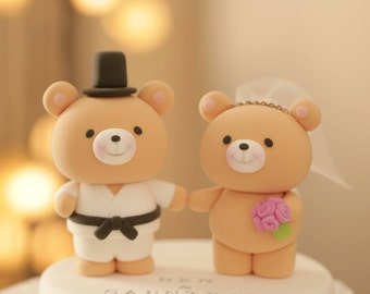 bear Wedding Cake Topper---k903
