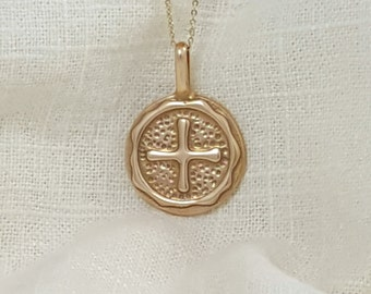 Hand Crafted Solid Ancient Bronze Air Element Necklace Pendant