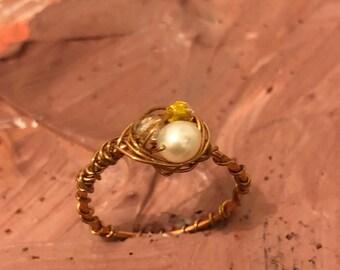 Nesting Pearl Ring