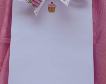 Cute Personalized Note pads with Ribbon