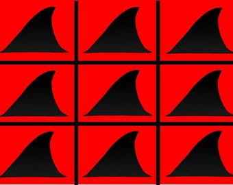 Non-Regular Tessellation 773: Shark Attack (# NRT_773_SP)