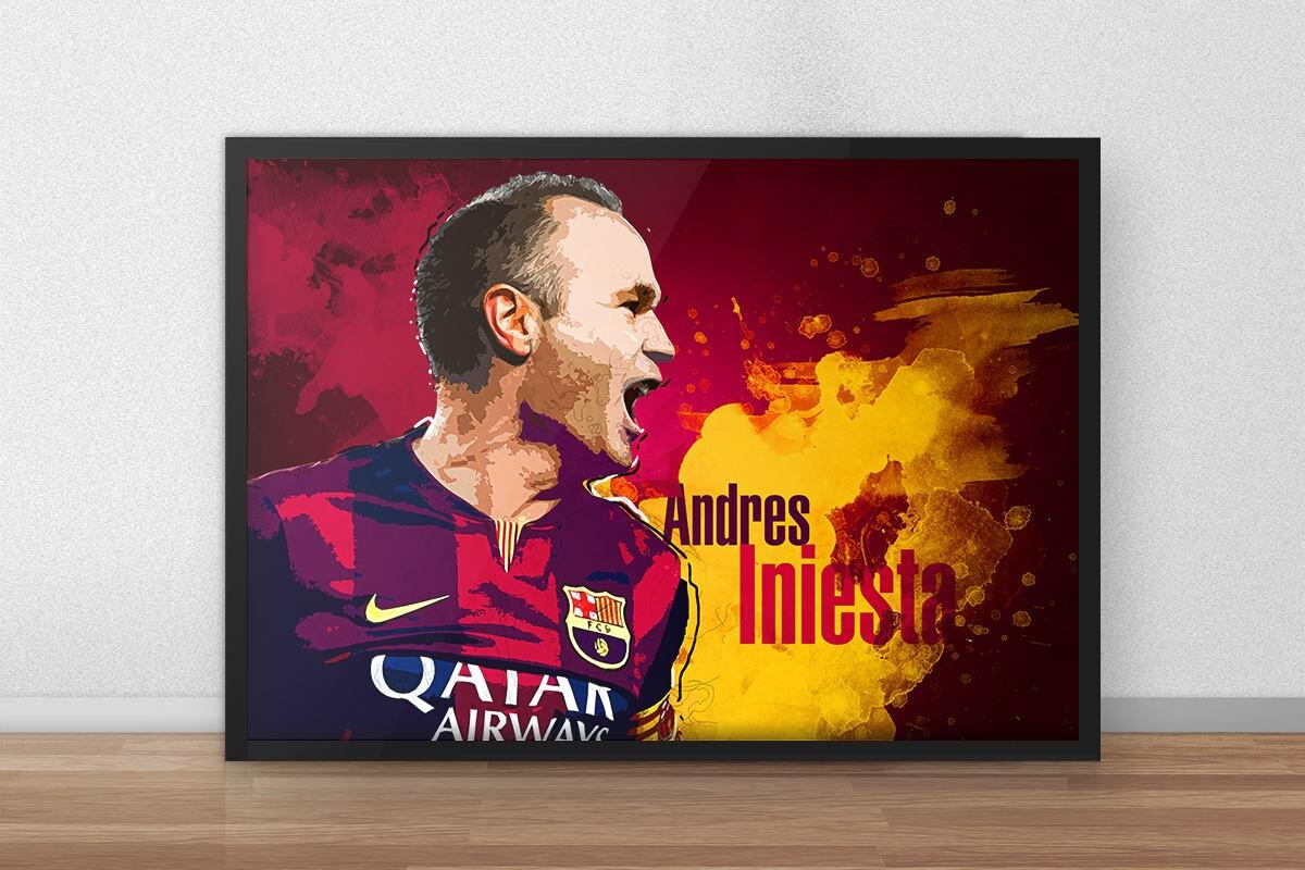 Andres Iniesta Iniesta Fc Barcelona Barcelona-Poster