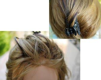 blacks hair /red highlights -  transparent thread -  adjustable closure -fringe halo extension - european hair- movable hair