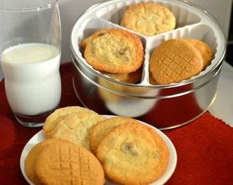 Gourmet Assorted Cookies, Cookie Sampler, Homemade Cookies, Peanut Butter Cookies, Snickerdoodle Cookies, Chocolate Chip Cookies,