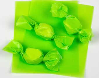 Pistachio Green Caramel Wrappers or Taffy Wrappers, 4 x 5 in. - 1 lb. Package