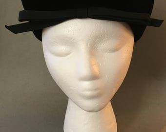 Vintage Trebor Black Hat-1950's Best and Co NYC Label