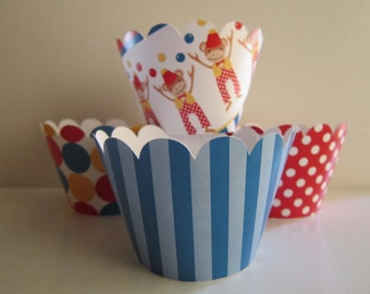 Circus Animal Monkey Standard Cupcake Wrappers