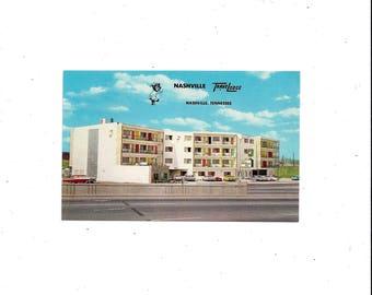 1960s Nashville Postcard of Travelodge Hotel, Tennessee, Color Print Photo, Unposted, James Robertson Pkwy, Vintage Travel Souvenir Ephemera