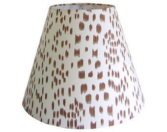 Brown Lamp Shade, Custom Lampshade, Animal Print Lamp Shade, Table Lamp Shade, Empire Lamp Shade, Tapered Lamp Shade, Multiple Sizes