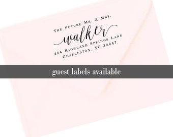 Return Address Labels, Transparent Return Address Stickers, Formal Address Stickers, Wedding Label Future Mr. Mrs. Mr & Mrs T167