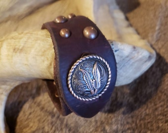 Latigo leather repurpose cuff