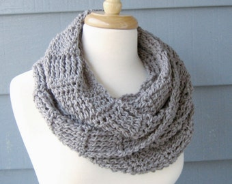 Infinity Scarf, Cowl, Neckwarmer (Ripley Scarf) - Custom Colors Available - Made to Order
