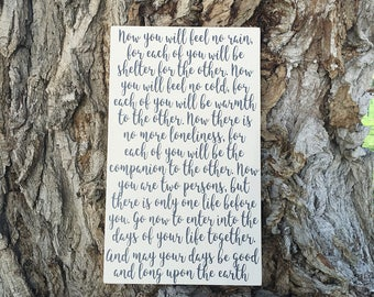 Wedding Vow Wall Art, Wedding Vows Wood Sign, Wedding Blessing Wood Sign, Wedding Vows Art, Wedding Prayer, Wedding Gifts for the Couple
