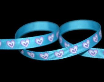 Stacked Heart Ribbon, Printed Heart Ribbon, Baby Shower Ribbon, Engagement DIY, Wedding Favor Ribbon, Ribbon by the yard, DIY wedding ribbon