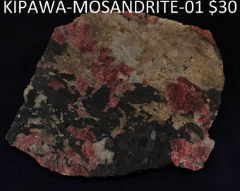 Eudialyte Mosandrite slab from Quebec, Canada